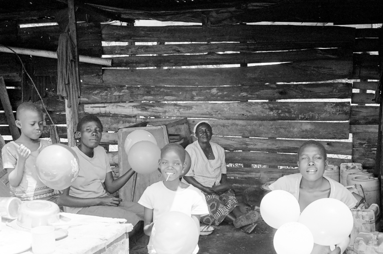 Family in Cookhouse