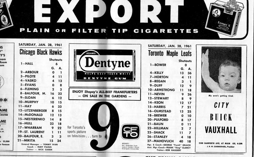 Maple Leafs: January 281961